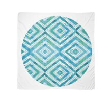 turquoise watercolor diamond pattern Scarf