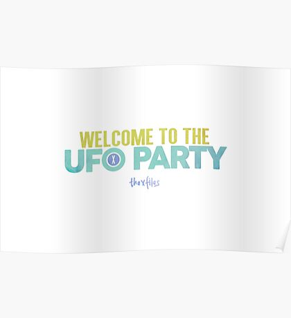 Welcome to the UFO Party Poster
