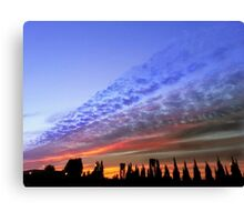 Sunset Rainbow Canvas Print