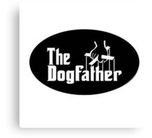 the dog father road Canvas Print