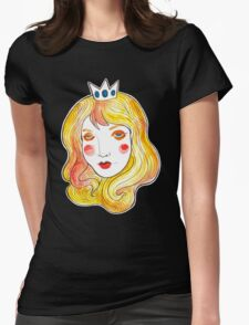 Mint Peach  Womens Fitted T-Shirt