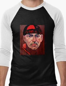 Tim McKew, Cabaret Artist - original oil painting on Jarrah Men's Baseball ¾ T-Shirt