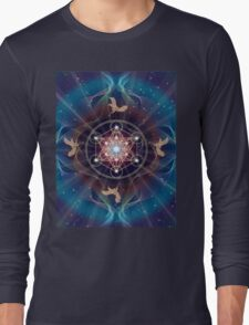 Metatron's Cube - Merkabah - Peace and Balance Long Sleeve T-Shirt