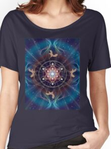 Metatron's Cube - Merkabah - Peace and Balance Women's Relaxed Fit T-Shirt