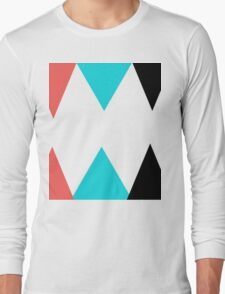 Colorful Arrows (Red, Blue and Black) Long Sleeve T-Shirt