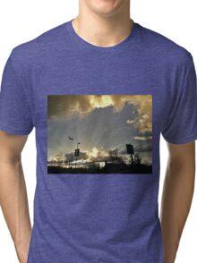 Sunset At Cascade Station Tri-blend T-Shirt