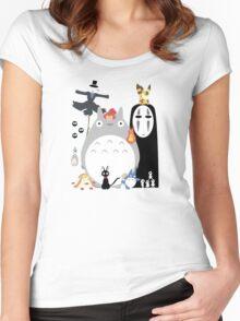 gang Ghibli studio Women's Fitted Scoop T-Shirt