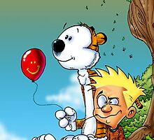 calvin ball hobbes by kabeljack
