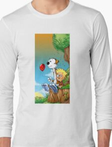 calvin ball hobbes Long Sleeve T-Shirt