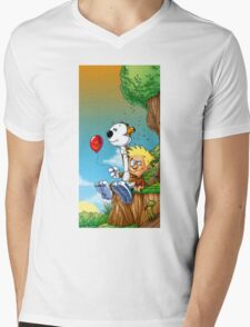 calvin ball hobbes Mens V-Neck T-Shirt
