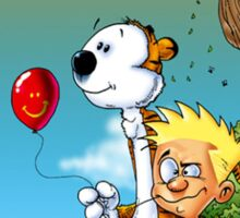 calvin ball hobbes Sticker