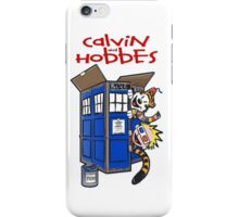 Calvin And Hobbes police box iPhone Case/Skin