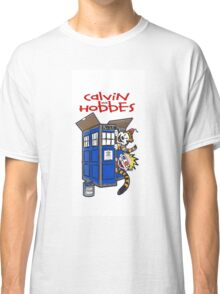 Calvin And Hobbes police box Classic T-Shirt