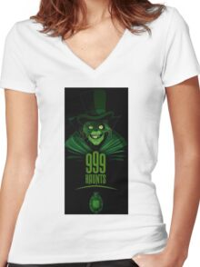 Haunted Mansion Sinful Women's Fitted V-Neck T-Shirt