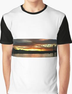 Sunset Over St Johns Wide Graphic T-Shirt