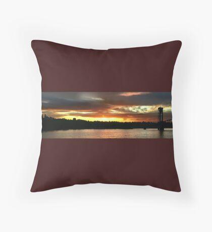 Sunset Over St Johns Wide Throw Pillow