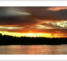 Sunset Over St Johns Wide Sticker