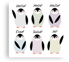 Happy pinguins  Canvas Print