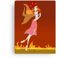 Fire Fairy Drawing - (Designs4You)  Canvas Print
