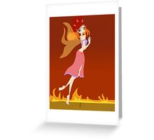 Fire Fairy Drawing - (Designs4You)  Greeting Card