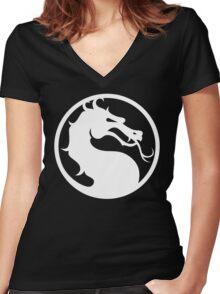 Mortal Kombat-Fight Women's Fitted V-Neck T-Shirt