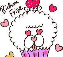 Bichon Frise Cupcake by tomo-tomo