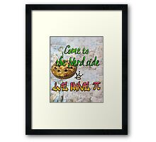Come to the nerd side we have Pie (Pi)  Framed Print