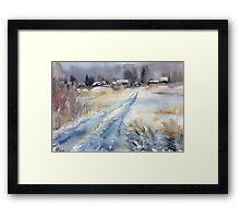 Before the Snowstorm in the Country. Russia Framed Print
