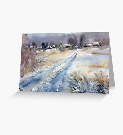 Before the Snowstorm in the Country. Russia Greeting Card