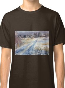 Before the Snowstorm in the Country. Russia Classic T-Shirt