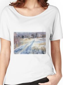 Before the Snowstorm in the Country. Russia Women's Relaxed Fit T-Shirt