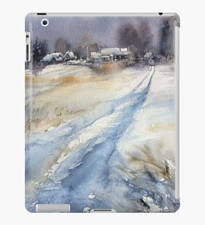 Before the Snowstorm in the Country. Russia iPad Case/Skin