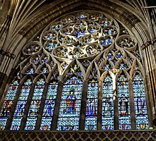 Stained Glass Window.. Exeter Cathedral. Devon UK by lynn carter