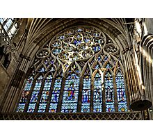 Stained Glass Window.. Exeter Cathedral. Devon UK Photographic Print