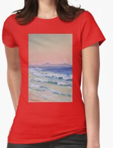 Rainbow Beach looking north at dusk Womens Fitted T-Shirt