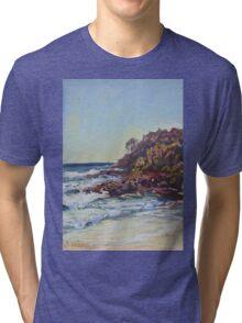 Southern end of Rainbow beach at dusk Tri-blend T-Shirt