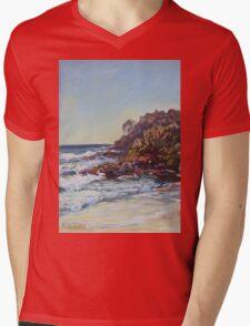 Southern end of Rainbow beach at dusk Mens V-Neck T-Shirt