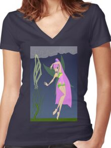 Nature and Storms Fairy - (Designs4You) Women's Fitted V-Neck T-Shirt