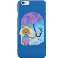 Cool cats and noisy neighbours on a rainy day iPhone Case/Skin
