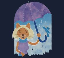 Cool cats and noisy neighbours on a rainy day Kids Tee