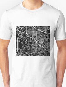Durham Map - Black Unisex T-Shirt
