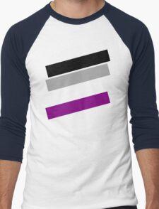 Simple Colors Asexual Men's Baseball ¾ T-Shirt