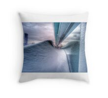 Snow Wave And Window Throw Pillow