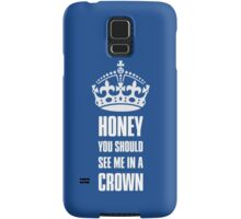 Sherlock Moriarty See me in a crown Samsung Galaxy Case/Skin