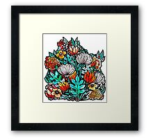 Spider Mum Garden Framed Print