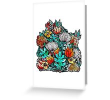 Spider Mum Garden Greeting Card