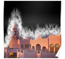 Fantasy Castle in dust storm  Poster