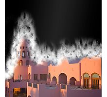 Fantasy Castle in dust storm  Photographic Print