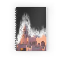 Fantasy Castle in dust storm  Spiral Notebook