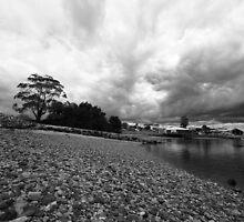 Leven River, Ulverstone   b/w  by gaylene